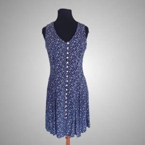 Vintage Ditsy Floral Button Front Dress